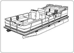 7oz boat cover tracker suntracker fishin barge 21 1996 1998