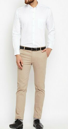 Mens Shirts Formal Luxury Casual Work Slim Fit Shirt Long Sleeve Black /& White