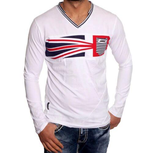 Bbl-6100 club discoteca style V-Neck señores t-shirt manga larga suéter nuevo jp