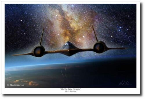SR-71 Blackbird On the Edge of Night by Mark Karvon Sled Driver Large