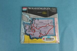 VINTAGE VIEW-MASTER 3D REEL PACKET A270 WASHINGTON EVERGREEN STATE SEALED