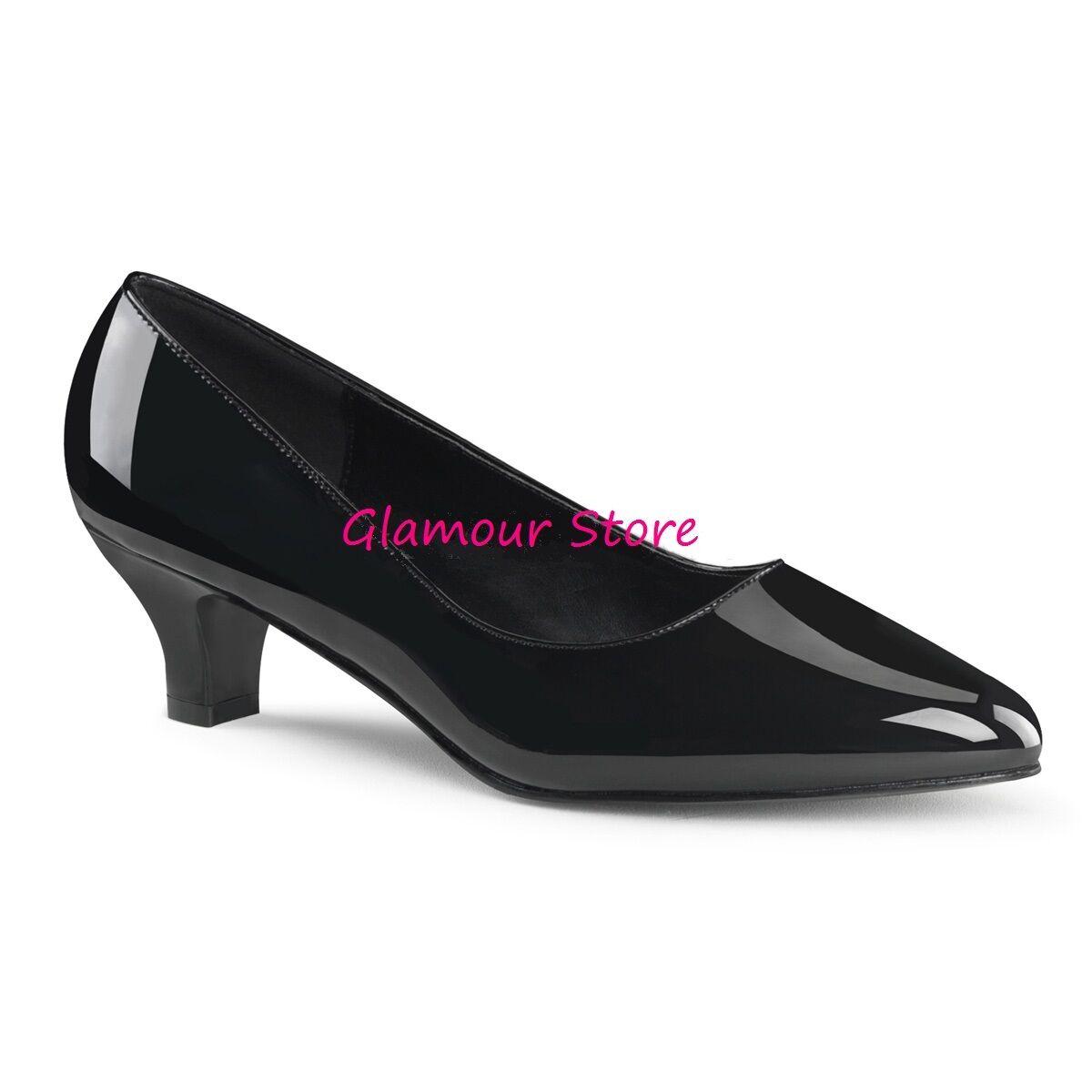 DECOLTE' tacco 5 cm NERO LUCIDO scarpe dal 39 al 46 scarpe LUCIDO SEXY chic fashion GLAMOUR 9f97d4