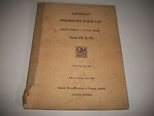 1934 CHEVROLET TRUCK SERIES PA & PD  EARLY ISSUE CHASSIS PARTS LIST CATALOG