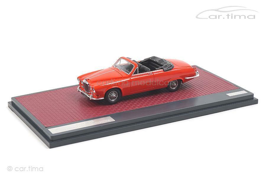 Jaguar 420 harold radford cabrio - rot - matrix 1 43 - mx41001-092