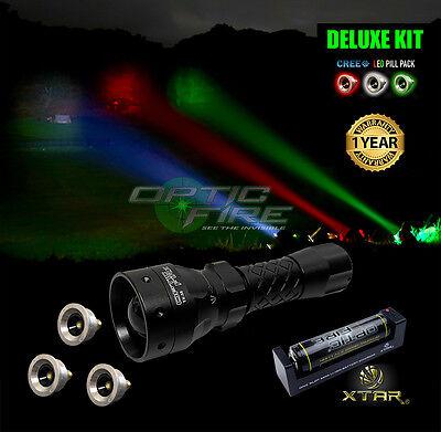 Adattabile Opticfire ® Tx-38 T38 Led Deluxe / Supreme Cree Led Caccia Torcia Lampada Kit Nv-mostra Il Titolo Originale Texture Chiara