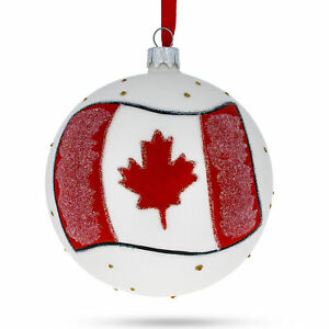 Flag of Canada Glass Ball Christmas Ornament 4 Inches | eBay