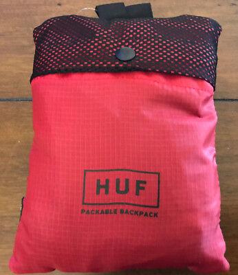 Purple Jade HUF Weed Marijuana Mesh Packable Backpack Adjustable Straps in Red