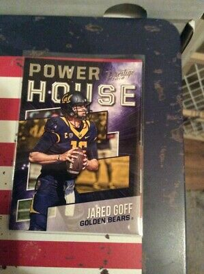 2018 Prestige Football Jared Goff Power House California Golden Bears No Ph Jg Ebay