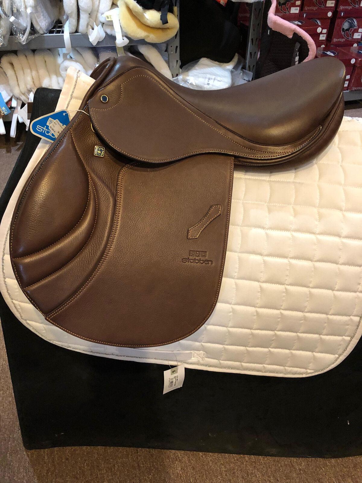 NEW Stubben S Portos Saddle Deluxe Leather 17 31cm  Mocca
