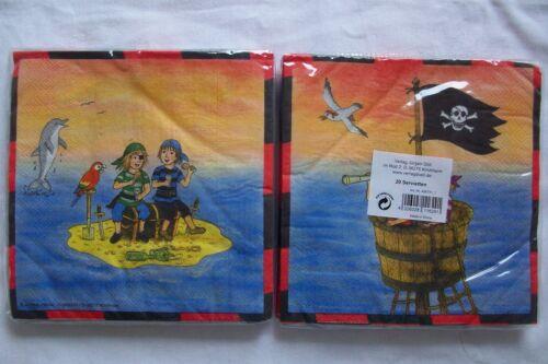 Verlag Jürgen Döll Kleine Piraten 20 dünne Servietten in OVP