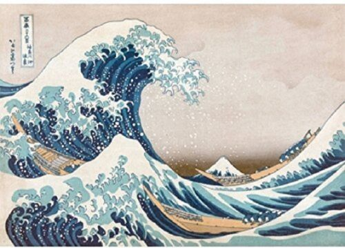 Wentworth The Great Wave of Kanagawa 39-40 Piece Hokusai Wooden Jigsaw Puzzle