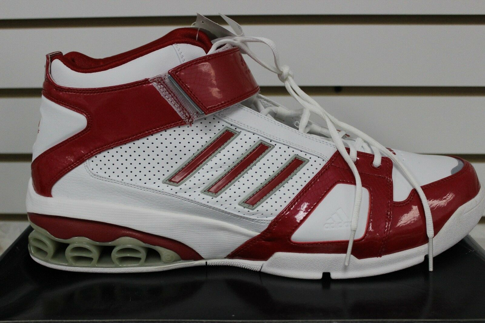 Herren Adidas Ast NCAA J-Smoov Josh Smith Basketball Weiß Rot 667534