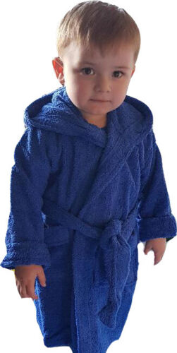 CHILD/'S HOODED ROBE embroidered with a ELEPHANT design and Personalised Name