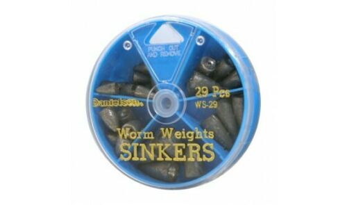 Danielson WS29 Fishing Worm Weight Sinker Assortment Pack of 29