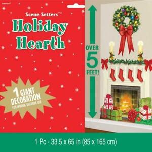 Christmas-Holiday-Hearth-Fireplace-Giant-Scene-Setter-Decoration