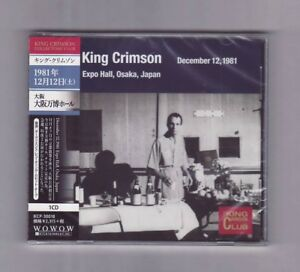 CD-KING-CRIMSON-Collector-039-s-Club-Osaka-Japan-Dec-12-1981-Import-NEW