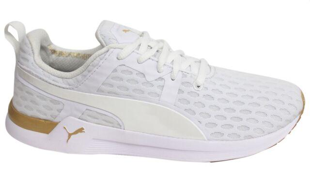 4a031d52d1a7b9 Puma Pulse XT v2 White Gold Womens Lace Up Textile Trainers 188971 01 U8