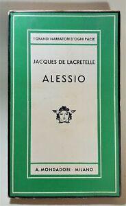 Jacques De Lacretelle Alessio Mondadori 1937