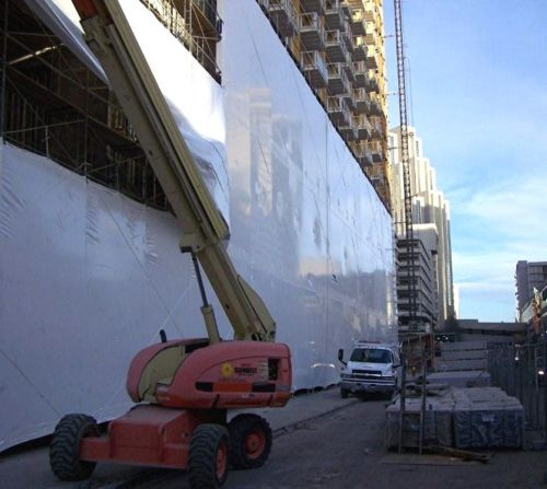 Boat Marine Construction Shrink Wrap 32' x 65'-7m DIY Blue