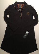 Lauren By Ralph LAuren Womans Pajama sleep shirt Fleece Black NWT Size XS
