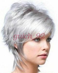 2018-Fashion-wig-New-Charm-Women-039-s-Short-Silver-Gray-Full-wig-wigs-beauty