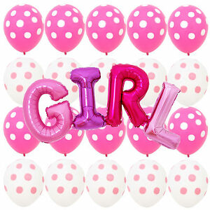 Pink white polka dot minnie mouse balloons girl baby for Red and white polka dot decorations