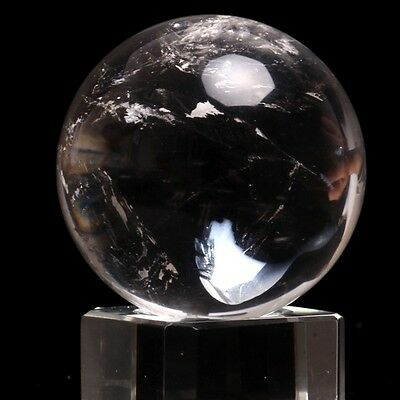 60g   Natural White Crystal Ball, Crystal Ball,Rock 33mm   Send stand