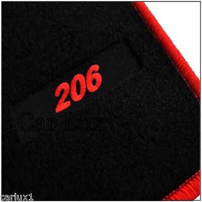 Tailored carpet mats for peugeot 206 from 1998-Edition ...