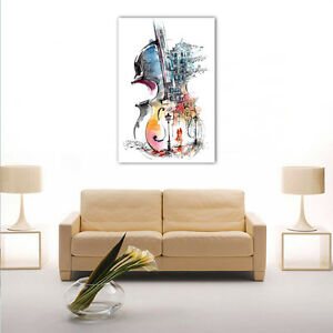 Modern Framed HD Canvas Prints Painting Abstract Violin