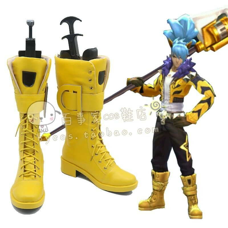 Zapatos Kings Role Cosplay honor of Cremallera Zapatos de combate Han Xin Cosplay botas Talla
