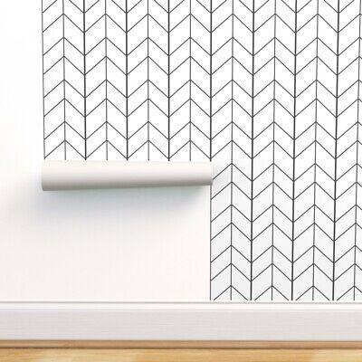 Peel And Stick Removable Wallpaper Arrow Chevron Black White