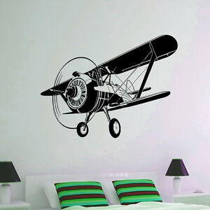 Wall decal vinyl sticker airplane plane aircraft aviation for Aircraft decoration