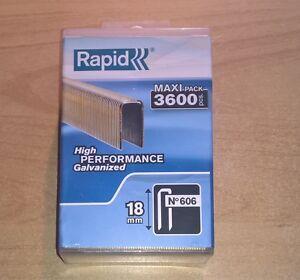 rapid tacker klammern typ 606 18 mm 3600 stk f r esco rocafix novus ebay. Black Bedroom Furniture Sets. Home Design Ideas