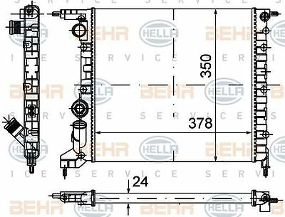 8mk 376 720-024 Hella Radiatore Raffreddamento Del Motore