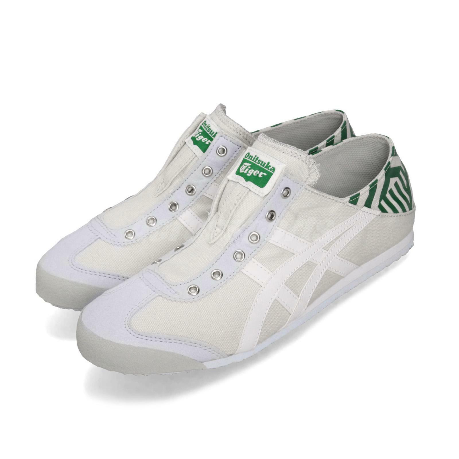Asics Onitsuka Tiger Mexico 66 Paraty gris blanco verde Men zapatos D342N-9601