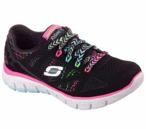 NUOVA-Gioventu-Skechers-S-Flex-Fashion-Play-Scarpa-Stile-81650-Nero-Multi-173C-PR