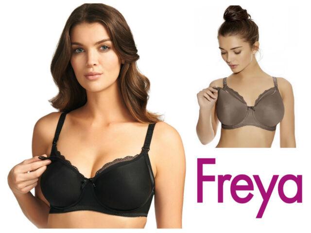 2c32e487b2ce4 Freya Pure Nursing Bra Moulded Seam Free Breast Feeding 1581 New Womens  Lingerie