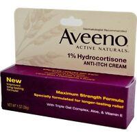Aveeno Maximum Strength Anti-itch Cream, 1% Hydrocortisone - 1oz Each