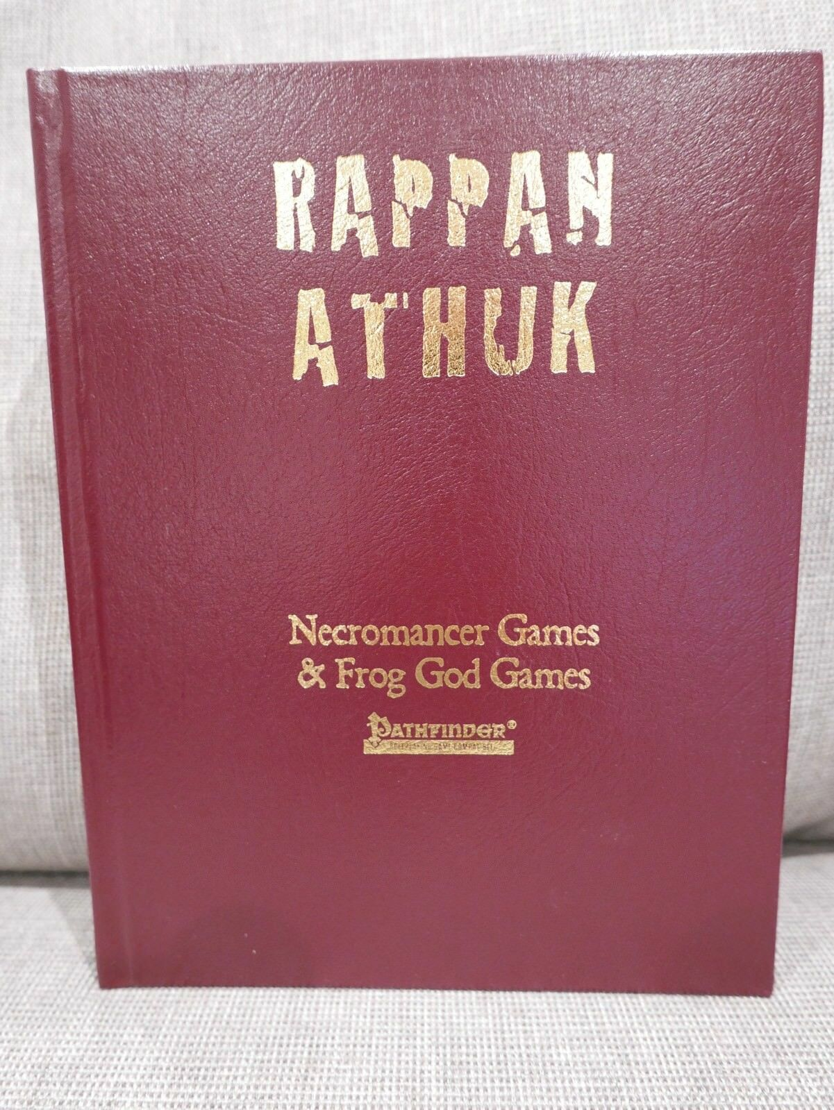 Rappan Athuk Collectors Edition Real Leather Frog God Games Pathfinder