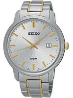 Seiko Sur197p1 Gents Bi-colour 100m Analogue Stainless Steel Date Watch Rrp £179