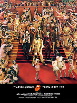 ROLLING STONES IT/'S ONLY ROCK AND ROLL POSTER b//w entire band music 24X36