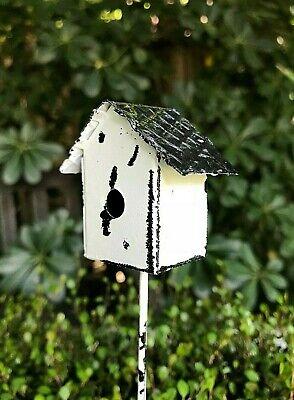 Miniature Dollhouse FAIRY GARDEN ~ Rustic White Mailbox Pick ~ NEW
