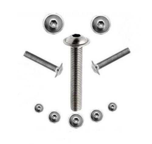 Viti lenti con flangia//esagono interno acciaio inox v2a ISO 7380 m4 m5 m6 m8