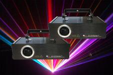 iShow Software + 2 x 1W / 1000mW RGB Full color ILDA DJ Laser Stage Lighting