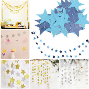 4M-Star-Paper-Garland-Bunting-Home-Wedding-Birthday-Party-Banner-Hanging-Xmas