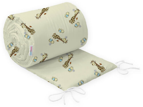 BABY PADDED BUMPER FOR COT 120x60 and COT BED 140x70 STRAIGHT 100/% COTTON