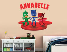 Personalized PJ Masks Wall Decal (Removable and Replaceable)