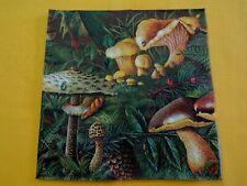 5 Servietten Hasen Herbst Serviettentechnik  Motivservietten Tiere Beeren Pilze