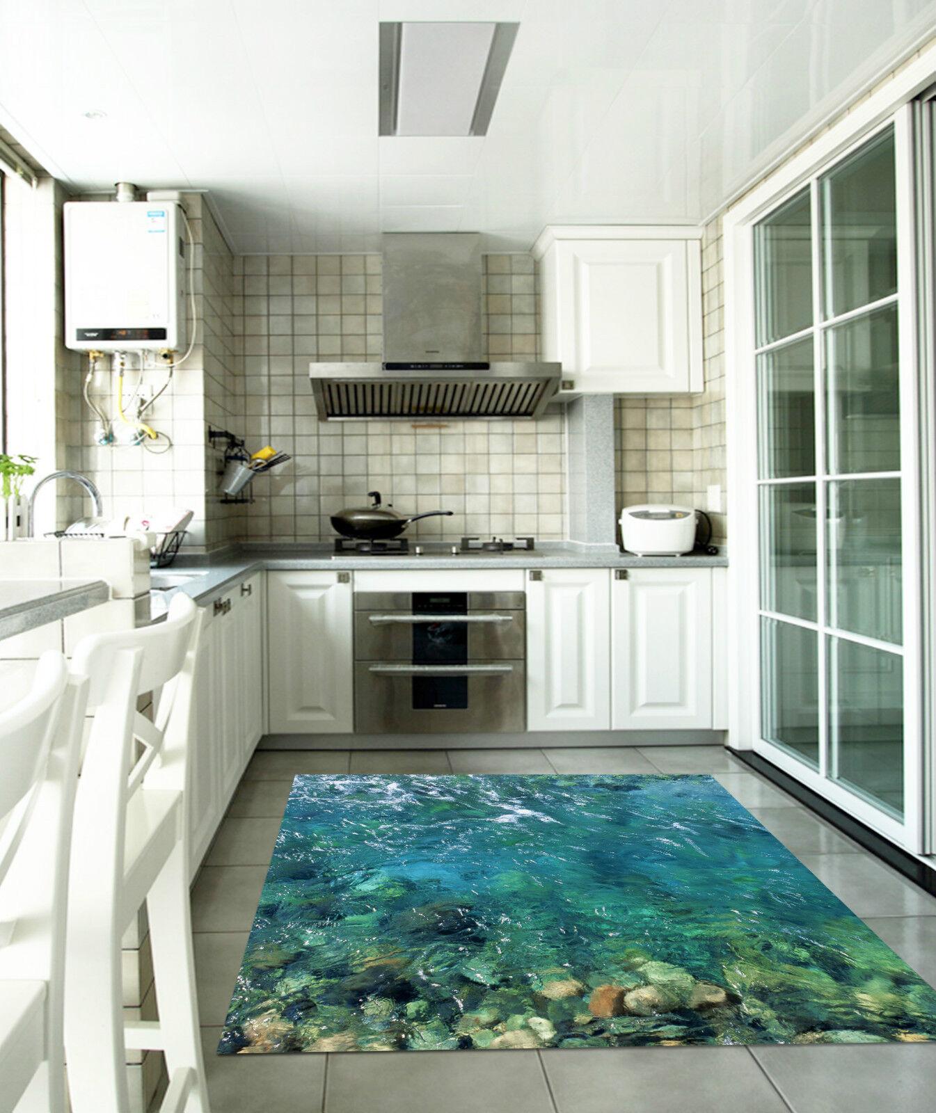 3D Décor Bleue Eau Coulant 011 Décor 3D Mural Murale De Mur De Cuisine AJ WALLPAPER FR 594191