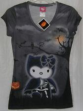 Hello Kitty HALLOWEEN Tee T-Shirt VAMPIRE Ladies FREE USA SHIPPING MEDIUM NWT